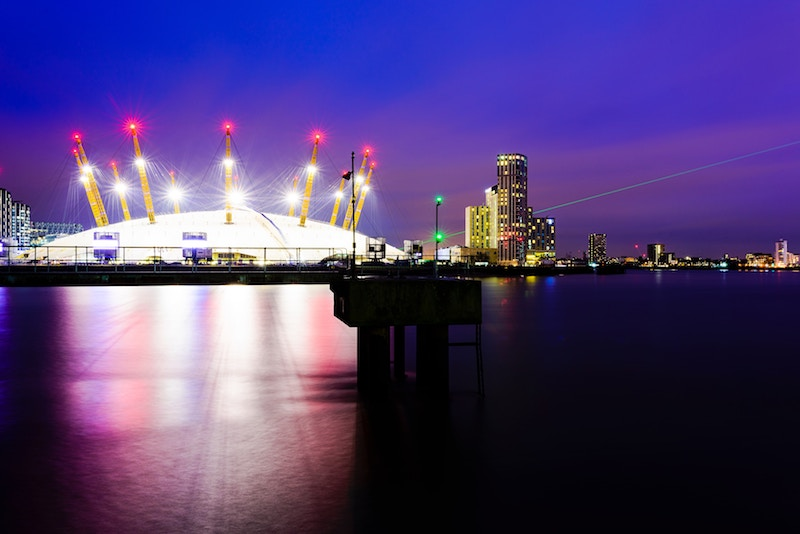 globedge-travel-london-o2-arena-night
